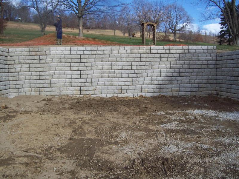 retaining wall, blough contracting, washington pa.
