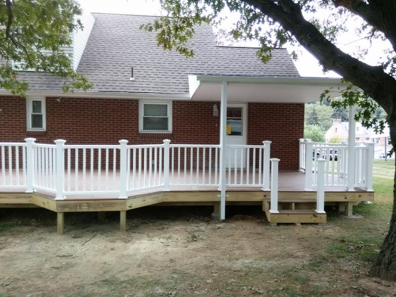 Deck with porch