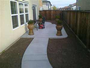 concrete walkway and pad