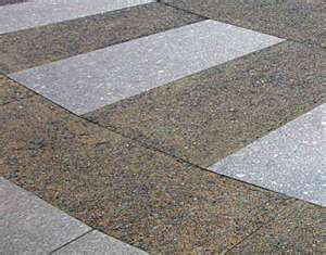 expossed aggregate/broomed